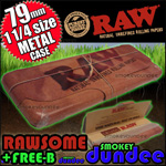 raw 79mm rolling paper tin
