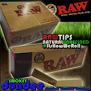 RAW regular unrefined natural tips