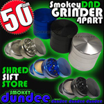 smokeyDND grinder 50mm 4 part